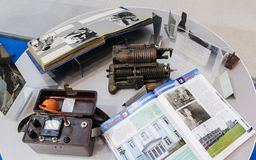 Retro exposition of objects. Stock Photography