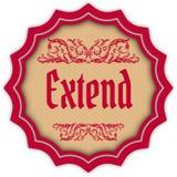 Retro EXTEND magenta badge. Illustration concept image Royalty Free Stock Photos