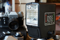 Retro external photo flash Royalty Free Stock Photo
