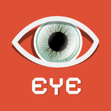 Retro Eye Illustration Royalty Free Stock Images