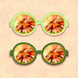 Retro eyeglasses Royalty Free Stock Photography