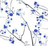 Retro färgsignal av blommafilialen med vit bakgrund Arkivfoto