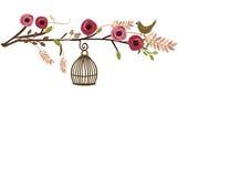 Retro fågelbur Royaltyfri Fotografi