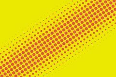 Retro för modellfläck för röd och gul komisk stil rastrerad backgroun Arkivfoton