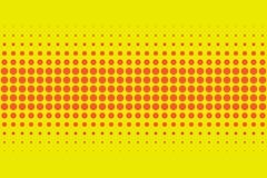 Retro för modellfläck för röd och gul komisk stil rastrerad backgroun Royaltyfria Foton