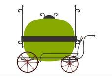 Retro försäljarevagn stock illustrationer