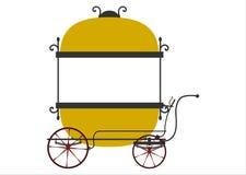 Retro försäljarevagn royaltyfri illustrationer