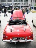 retro försäljning för bil Arkivbild