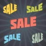 Retro försäljningsetikettuppsättning. Royaltyfria Foton