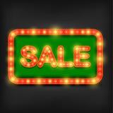 Retro försäljningsneontecken vektor illustrationer