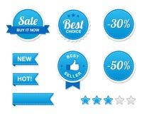 retro försäljningsset för knappar Royaltyfri Fotografi