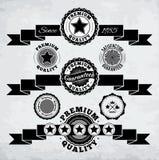 Retro faborki i odznaki ilustracji