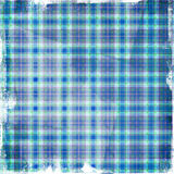 Retro fabric. Checked retro fabric with  grunge  borders Royalty Free Stock Photo