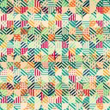 Retro fabric circles seamless pattern Stock Photo