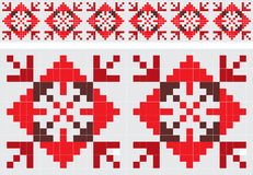 Retro fabric ornament Royalty Free Stock Photography