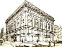 Retro facade. Stock Photo