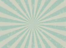 Retro faded grunge background. faded turquoise and beige color burst background. Vector illustration. Sun beam ray background. Old speckled paper with stock illustration