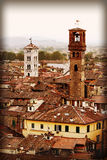 Retro faded styled picture of Lucca in Italy Royalty Free Stock Photography