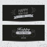 Retro- Fahnen des neuen Jahres Stockbilder