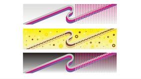 Retro- Fahnen, Vorsätze vektor abbildung