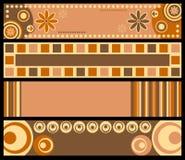 Retro- Fahnen [warme Farben] Stockfoto