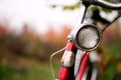 Retro- Fahrrad-Detail Lizenzfreies Stockbild