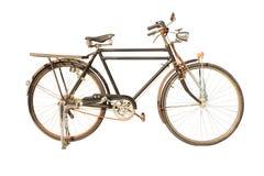 Retro- Fahrrad, lokalisiert auf weißem Hintergrund Stockfoto