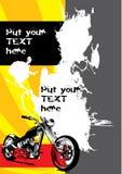 Retro- Fahrradplakat Lizenzfreie Stockfotos