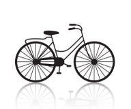 Retro- Fahrradschattenbild der Vektorweinlese, Ikone lizenzfreie abbildung