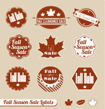Retro Fall Season Labels and Stickers Stock Photography