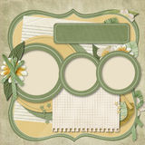 Retro family album.365 Project. scrapbooking templates. Stock Images