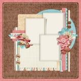 Retro family album.365 Project. Scrapbooking templates. vector illustration