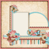 Retro family album.365 Project. Scrapbooking templates. Stock Image