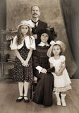 Retro family portrait Royalty Free Stock Photos
