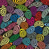 Retro fancy and misshape spirals Stock Image