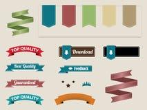 Retro- Farbbänder und Kennsätze Lizenzfreies Stockfoto