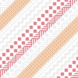 Retro- Farbnahtloses Muster Fantastischer abstrakter geometrischer Kunstdruck Ethnischer Hippie Ornamental zeichnet Hintergrund Lizenzfreie Stockbilder