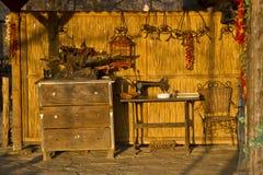 Retro farm courtyard Stock Photo