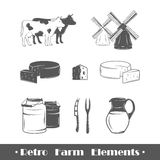 Retro farm elements Royalty Free Stock Photos