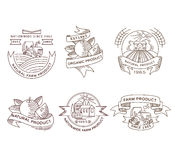 Retro farm fresh labels, badges and design Royalty Free Stock Photography