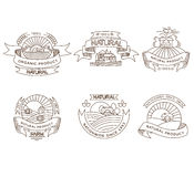 Retro farm fresh labels, badges and design Royalty Free Stock Images