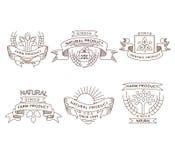 Retro farm fresh labels, badges and design Stock Photo