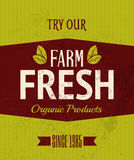 Retro Farm Fresh Poster Royalty Free Stock Images