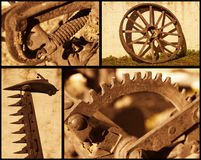 Retro farming objects. A set of retro farming related objects Royalty Free Stock Photo