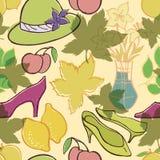 Retro fashion accessories pattern Royalty Free Stock Image