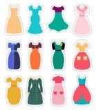 Retro Fashion Dresses Set Royalty Free Stock Image