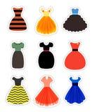 Retro Fashion Dresses Set Stock Photo