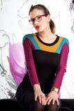 Retro fashion girl Royalty Free Stock Photos