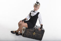 Retro fashion girl Royalty Free Stock Photography