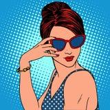 Retro fashion girl in sunglasses Royalty Free Stock Image